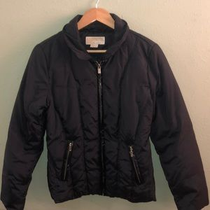 Michael Kors black down jacket. Size Large.